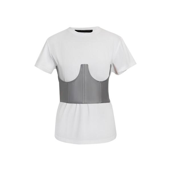 Pearl grey corset