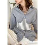 Striped blue corset
