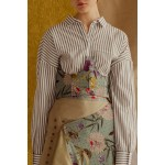 Flowered nephritis corset