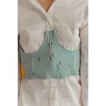Flowered mint blue corset