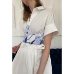 Blue corset (print dragon)