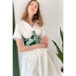 Green corset (print dragons)
