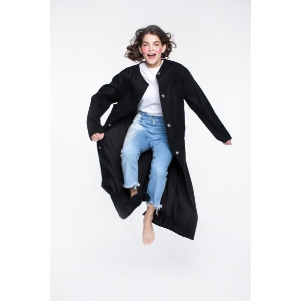 Black upped pocket coat