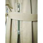 Bicolour sleeveless trench coat
