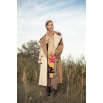 Two-tone oversized trench coat
