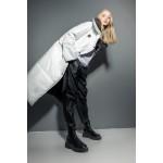 Transformer puffer coat (white + black)