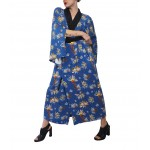 Blue transformer kimono dress