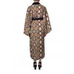 Snake print transformer kimono dress