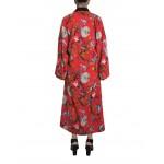 Flower red transformer kimono dress
