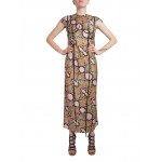 Snake print dress with applique