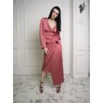 Rose asymmetric wrap dress