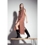 Cinnamon dress with shoulder pads