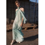 Mint silk dress