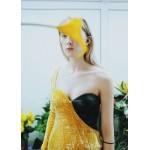 Asymmetric fringed dress