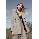 Transformer jacket with detachable front (sandy grey+ striped grey front)