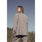 Transformer jacket with detachable front (sandy grey+ dark beige front)