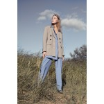 Transformer jacket with detachable front (sandy grey+ blue front)