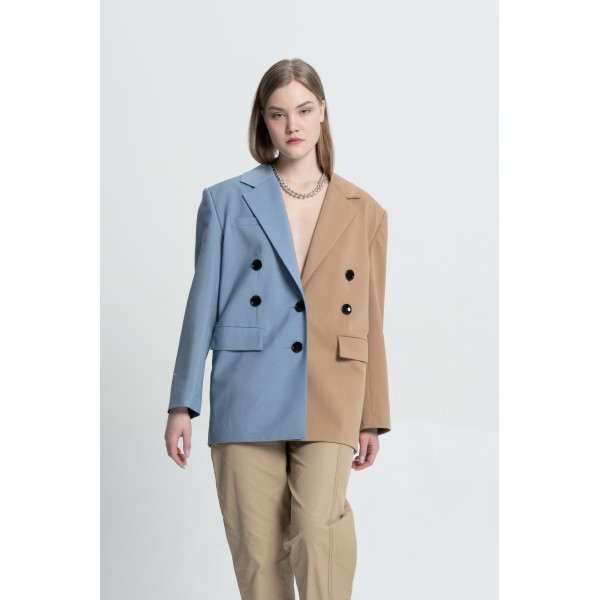 Transformer jacket (sandy beige+sky blue)
