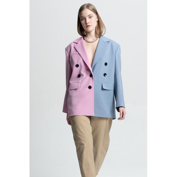 Transformer jacket (sky blue+pink)