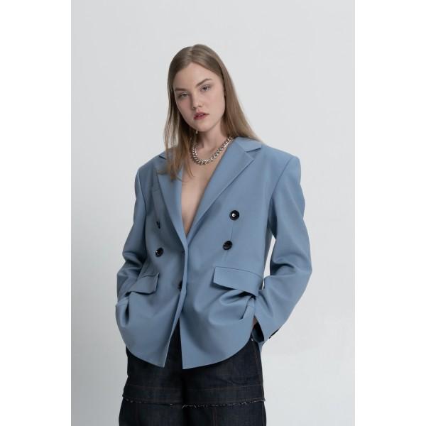 Sky-blue transformer jacket