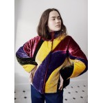 Silk velvet rainbow jacket