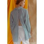 Striped navy and white transformer shirt