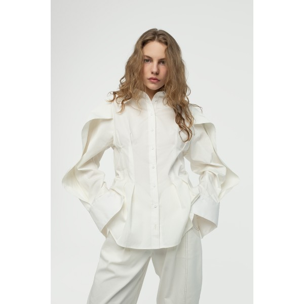 White shirt with wing sleeves