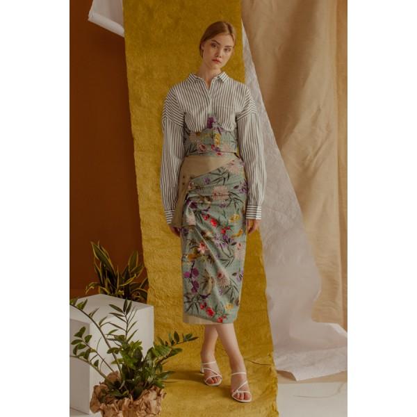 Floral transformer  wrap skirt