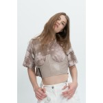 Beige t-shirt with corset