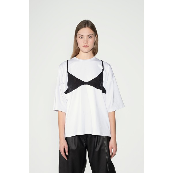 Oversize T-shirt with contrast bodice